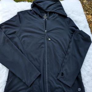 Tribal jacket hoodie zipper front gym wear pockets